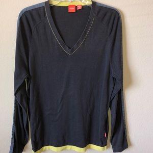 Boss Hugo Boss V-Neck Long Sleeve Shirt